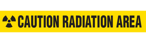 CAUTION RADIATION AREA  - Barricade Tape (Case of 12 Rolls)