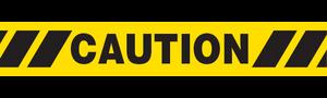 CAUTION W/ HAZARD STRIPE  - Barricade Tape (Case of 12 Rolls)