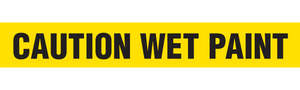 CAUTION WET PAINT  - Barricade Tape (Case of 12 Rolls)
