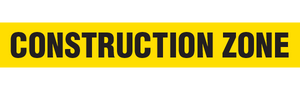 CONSTRUCTION ZONE  - Barricade Tape (Case of 12 Rolls)