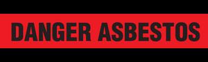 DANGER ASBESTOS  - Barricade Tape (Case of 12 Rolls)