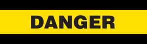 DANGER  (Yellow) - Barricade Tape (Case of 12 Rolls)