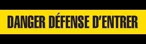DANGER DEFENSE  - Barricade Tape (Case of 12 Rolls)