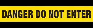 DANGER DO NOT ENTER  - Barricade Tape (Case of 12 Rolls)