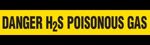 DANGER H2S  - Barricade Tape (Case of 12 Rolls)