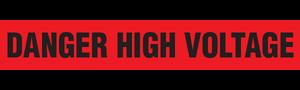 DANGER HIGH VOLTAGE  - Barricade Tape (Case of 12 Rolls)
