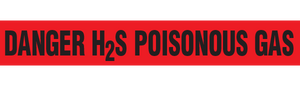 H2S-POISONOUS GAS  - Barricade Tape (Case of 12 Rolls)