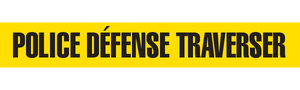 POLICE DEFENSE TRAVERSER  - Barricade Tape (Case of 12 Rolls)