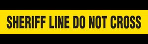 SHERIFF LINE  - Barricade Tape (Case of 12 Rolls)
