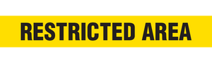 RESTRICTED AREA  - Barricade Tape (Case of 12 Rolls)