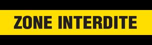 ZONE INTERDITE - YELLOW  - Barricade Tape (Case of 12 Rolls)