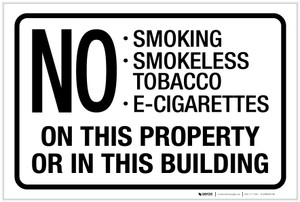 No Smoking On This Property/In This Building - Label