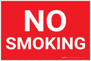 No Smoking Red Landscape - Label