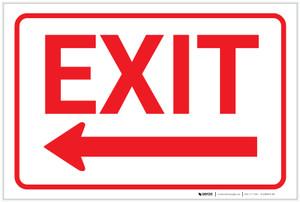 Exit (Arrow Left) - Label