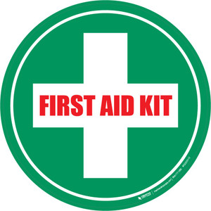 First Aid Kit Floor Sign