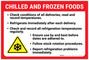 Chilled And Frozen Foods Guidelines with Icon Landscape - Label