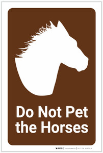 Do Not Pet the Horses - Label