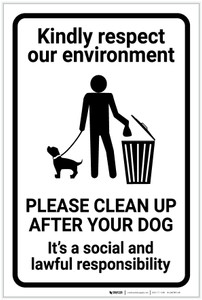 Respect Our Environment/Clean Up After Your Dog with Icon Portrait - Label
