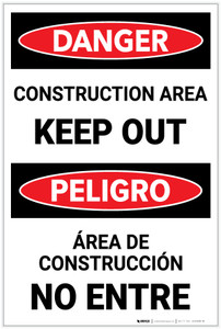 Danger: Constuction Area/Keep Out - Label