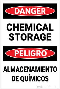 Danger: Chemical Storage Bilingual Spanish - Label