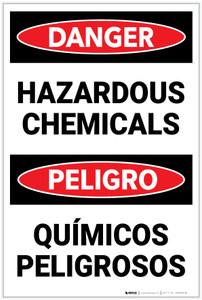 Danger: Hazardous Chemicals Bilingual Spanish - Label