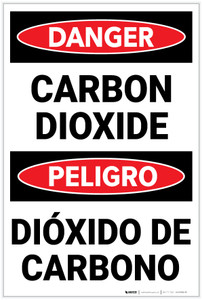 Danger: Carbon Dioxide Bilingual Spanish - Label
