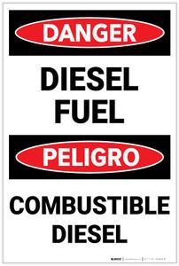 Danger: Diesel Fuel Bilingual Spanish - Label