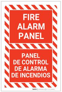 Fire Alarm Panel Bilingual Spanish - Label