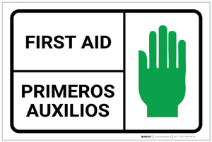 First Aid Bilingual Spanish - Label