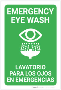 Eye Wash Bilingual Spanish - Label