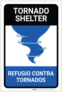 Tornado Shelter Bilingual Spanish - Label
