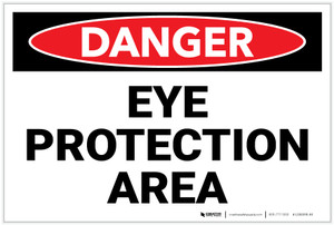 Danger: PPE Eye Protection Area - Label