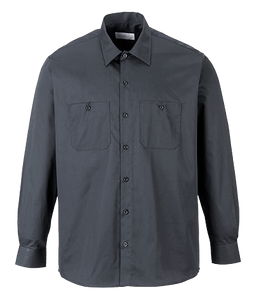 Industrial Work Shirt, Long Sleeve, Black