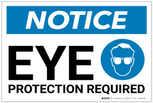 Notice: Eye Protection Required With Graphic - Label
