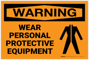 Warning: PPE Personal Protective Equipment - Label
