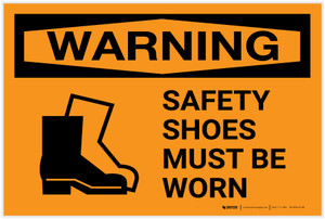 Warning: PPE Safety Shoes - Label