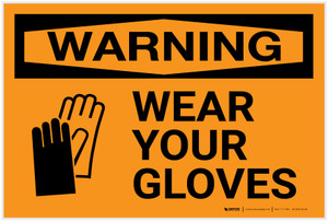 Warning: PPE Wear Gloves - Label