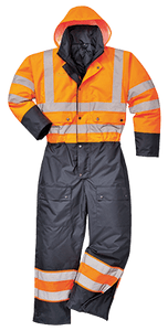 Contrast Coverall Lined, Orange