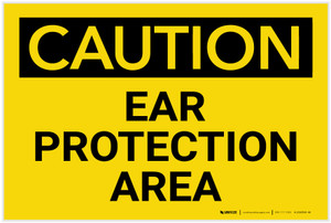 Caution: PPE Ear Protection Area - Label