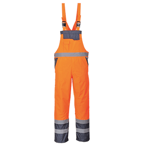 Contrast Bib and Brace, Orange