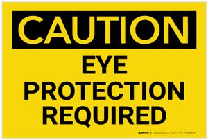 Caution: PPE Eye Protection Required - Label
