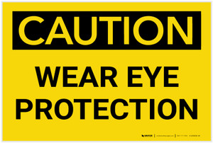 Caution: PPE Wear Eye Protection - Label