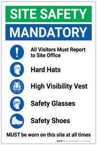 Safety First: Site Safety Mandatory PPE - Label