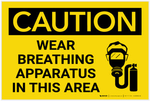Caution: Wear Breathing Apparatus in This Area with Graphic - Label