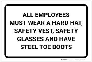 Notice: All Employees Must Wear Portrait - Label