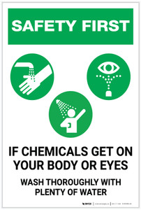 Safety First: Chemical Hazard - Wash Thoroughly - Label