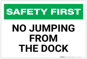 Safety First: No Jumping From the Dock - Label