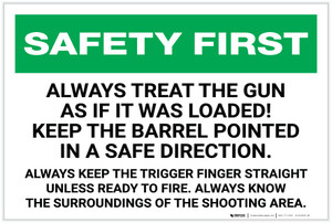 Safety First: Gun Safety - Label