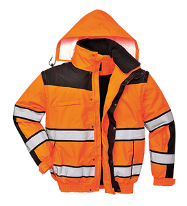 Hi-Vis Classic Bomber Jacket, Orange