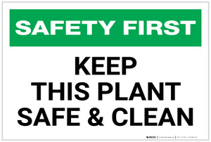 Safety First: Keep This Plant Safe and Clean - Label